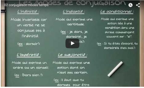 Conjugaison: les modes et les temps | Apprendre le français Bachillerato | Scoop.it