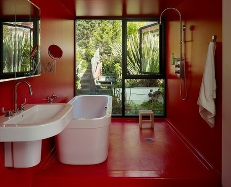 Bathed in Color: When to Use Red in the Bath | Designing Interiors | Scoop.it
