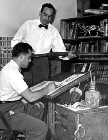 cartoonistsattheirdesks: Jack Kirby and Joe...   MulderComicReport   Scoop.it