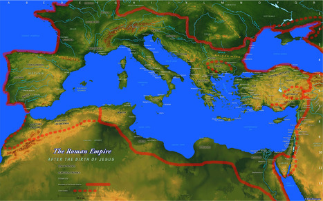 Map of the Roman Empire - Ancient Cities, Rivers, and Mountains during the first century A.D. | mystery of the ancient history | Scoop.it