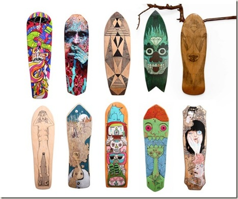 Reskate: Transformando patines antiguos en Obras de Arte | Conciencia Eco | carlodalenz | Scoop.it