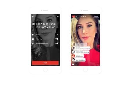 L'application mobile de YouTube permettra enfin de faire du live | Web Dev News | Scoop.it