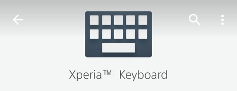 Sony Xperia Keyboard 7.3.A.0.20 app updated | Xperia Guide | Scoop.it