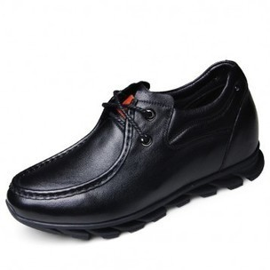 Soft upper elevator casual shoes 6cm / 2.36inch black hidden heel lace up shoe on sale at topoutshoes.com | Elevator Casual shoes men height increasing Taller | Scoop.it