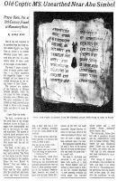 A Coptic Apocryphal Manuscript from Nubia (the Qasr el-WizzCodex) | African Cultural News | Scoop.it