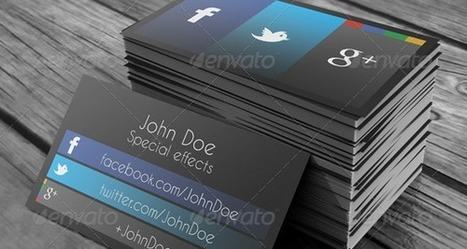 15 stylish social media business cards designs | Design Ideas | Scoop.it