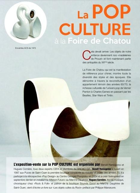 Pop Culture à Chatou: la foire change de look ! La velvet galerie contre attaque ! | Velvet Galerie ,Mobilier design XX eme , Architecture utopique 1970 , Pop culture | Scoop.it