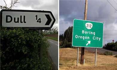 Silly placenames: welcome to Dull, twinned with Boring | Geography Education | Scoop.it