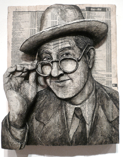 Alex Queral Phone Book Portraits – Dailydip | ASCII Art | Scoop.it