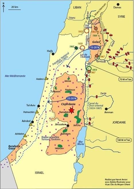 Eau et conflits dans le bassin du Jourdain - Les clés du Moyen-Orient | ECS Géopolitique de l'Afrique et du Moyen-Orient | Scoop.it