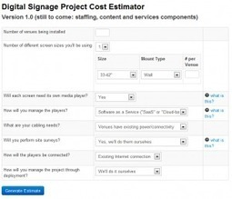 Wirespring Digital Signage Project Cost Estimator | | Digisignz | Scoop.it