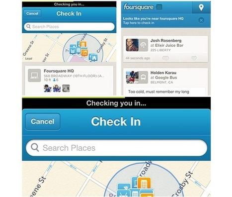 Foursquare rend le check-in encore plus rapide sur iPhone | Technologies & Web Quezako | Scoop.it