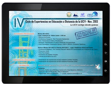IV Ciclo de Experiencias en Educación a Distancia de la #UCV NOV - 2013. #4cicloucv #nubeucv | Educación y TIC | Scoop.it