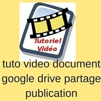 tuto video document google drive partage publication | assistance outils internet-web | Scoop.it