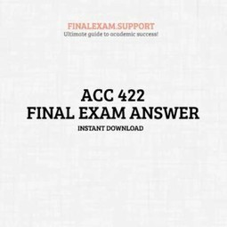 ACC 422 Final Exam Wiley | FinalExam | Scoop.it