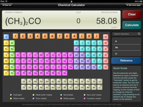 5 Chemistry Apps for Students and Teachers | AvatarGeneration | Top iPad Apps & Tools | Scoop.it