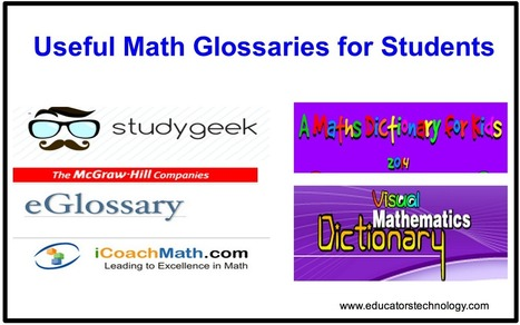 6 Useful Math Glossaries for Students ~ Educational Technology and Mobile Learning | Teacher Resources | Scoop.it