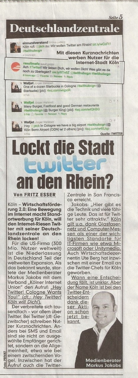 Lockt die Stadt Twitter an den Rhein?   #Twithubcgn Pressespiegel   Scoop.it