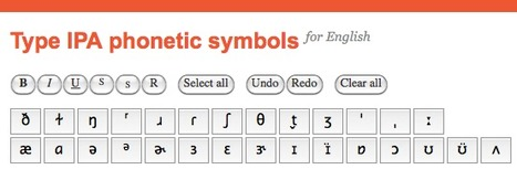 Type IPA phonetic symbols - online keyboard | Learning technologies resources | Scoop.it