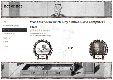 Bot or not? Try to tell a human poet from a computer | Mediawijsheid in het VO | Scoop.it