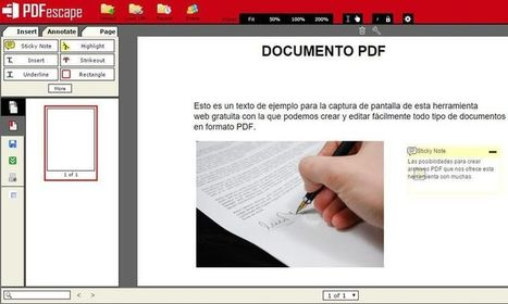 PDFescape: crea o edita, gratis y online, documentos PDF | educación integral | Scoop.it