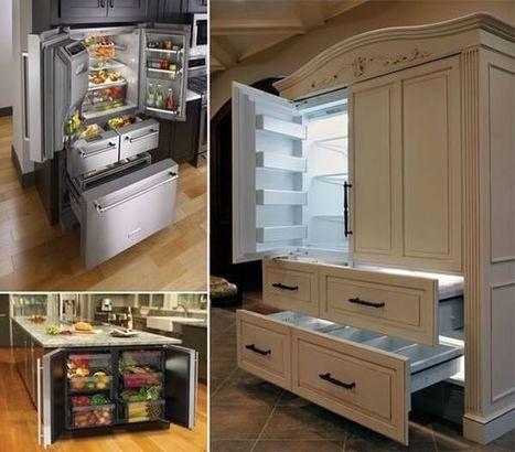 10 Uniquely Awesome Refrigerator Designs | Amazing interior design | Scoop.it