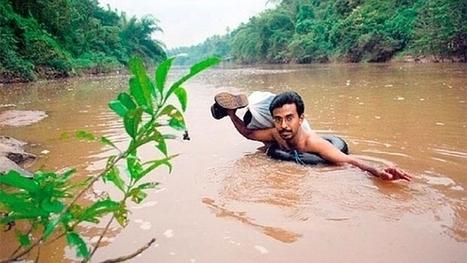 El profesor que diariamente cruza un río nadando para dar clase | Aprender y educar | Scoop.it