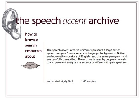 Speech Accent Archive | Digital Delights for Learners | Scoop.it
