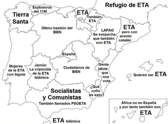 El mapa del territorio español según el PP | Partido Popular, una visión crítica | Scoop.it