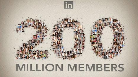 LinkedIn supera i 200 milioni di utenti [Infografica] | InTime - Social Media Magazine | Scoop.it