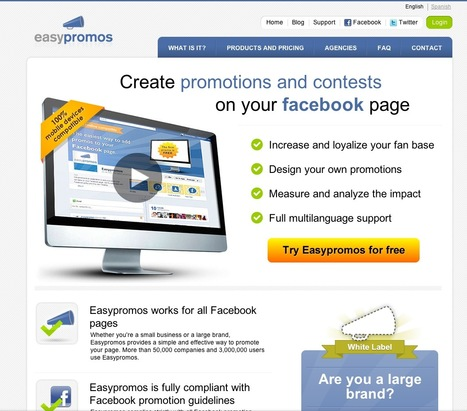Easypromos: Easypromos - Create promotions and contests on your Facebook page. | Facebook (par Diane Bourque) | Scoop.it