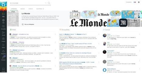 Qwant, le petit moteur de recherche anonyme qui monte | Médias et Santé | Scoop.it