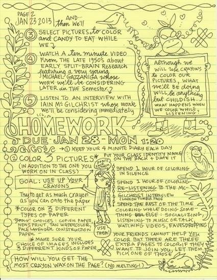 CartoonistLynda Barryis teachinga university-level course on doodling   Funny Books   Scoop.it