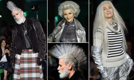 Ageing punks with grey mohawks rule at Jean Paul Gaultier at PFW   What's up, World ?   Scoop.it