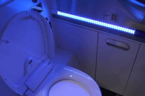 This plane's bathroom cleans itself with UV lights | Sustainable Innovation | Scoop.it