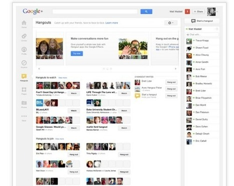 Google+, changement d'interface et nouvelles fonctionnalités | Social Media Curation par Mon Habitat Web | Scoop.it
