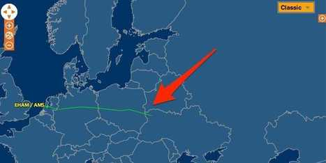 Here's The Map Showing The Flight Path Of The Malaysian Plane That Has Crashed In Ukraine | OHS Aviation industry, film industry, me | Scoop.it