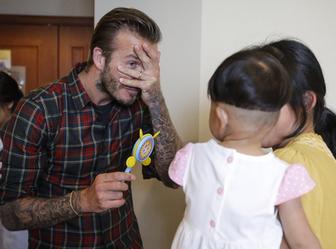 David Beckham fait le clown pour des enfants malades en Chine | Clowns Z'hôpitaux, NEZ pour la rencontre - les coeurs visiteurs | Scoop.it