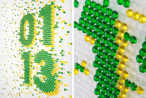 bubble wrap typography by lo siento for wired UK | Design and Architect | Scoop.it