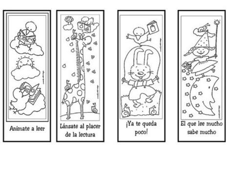 Marcapáginas para la animación de la lectura – Dibujalia. Dibujos ...