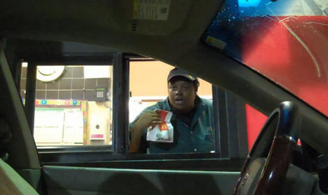 The Ol' Invisible Driver Fast Food Drive-Thru Prank | Geekologie | Cars and Road Safety | Scoop.it