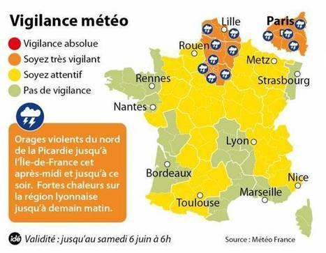 Orages violents : Ile-de-France, Nord-Pas-de-Calais et Picardie en vigilance orange | Biodiversité & RSE | Scoop.it
