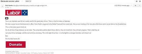 Bob Hawke emails ALP supporters | Government Relations | Scoop.it