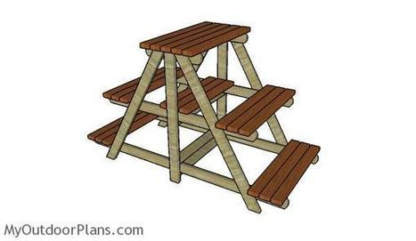 Large Plant Stand Plans | MyOutdoorPlans | Free Woodworking Plans and Projects, DIY Shed, Wooden Playhouse, Pergola, Bbq | Garden Plans | Scoop.it