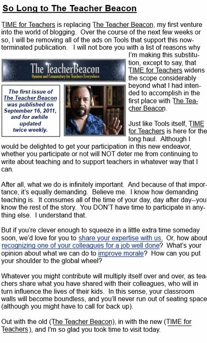 Teacher Resources:  TIME for Teachers, Issue No. 2 | Teaching Resources | Scoop.it