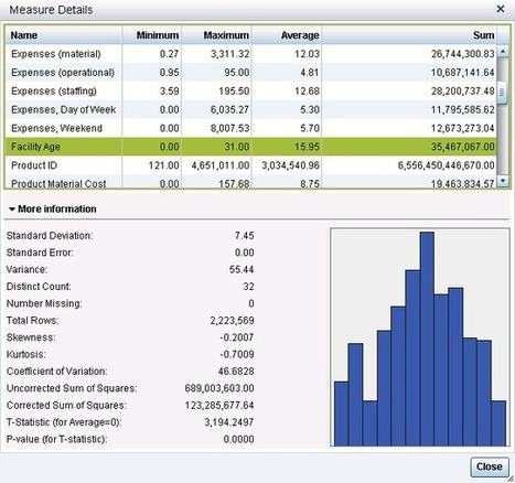 Descriptive statistics—the more, the merrier in SAS Visual Analytics   Analytics   Scoop.it