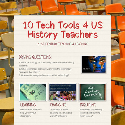 10 Tech Tools 4 US History Teachers | Digital literacy | Scoop.it