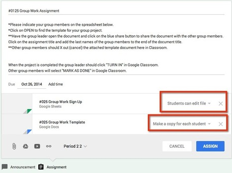 Google Classroom: Turning in Group Work | Edtech PK-12 | Scoop.it