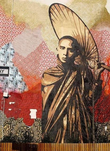Street Art: 50 amazing examples - purple leaves | Avant-garde Art & Design | Scoop.it